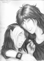 Destan and Azrael Lover's Embrace~ by IndigoOfTheHeavens