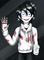 Hi... (Jeff the Killer) by ArtyJoyful