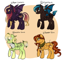Pony Adoptables 3 [CLOSED] by NoxxPlush