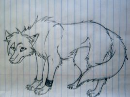 Another Story Wolf Doodle by TheAngelsDemonica