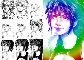 Arte Sequence woman by alanscampos