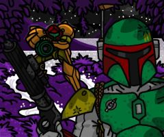 Hunter: Fett VS. Aran by professorhazard