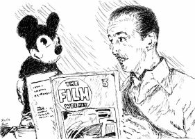 Early Walt Disney and Mickey Mouse by miss-chele