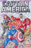 Captain America Sketch Cover by ibroussardart