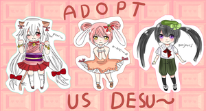 Adoptables! CLOSED by keyaramuri