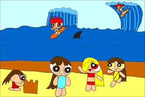 StrongEpic Kids at the Beach by RCBlazer