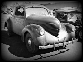 Barn Find Willys bw by StallionDesigns