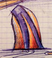 sketch of the architectural form of the building05 by Demiteli