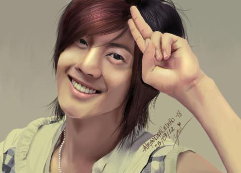 Kim Hyun Joong digital painting by yuisama