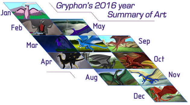 Gryphon's 2016 Summary of Art by gryphon1