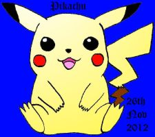 Coloured Pikachu 1 by TheSilentChloey