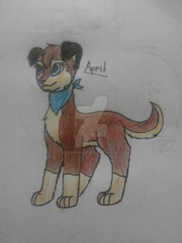 My Oliver and company OC April by TheFreeLioness