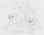 You'll Never Take Us Alive! by RainstormCheetah