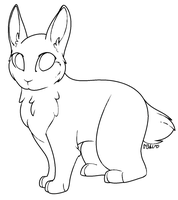Free Bunny Lineart by NeonSparkleButt