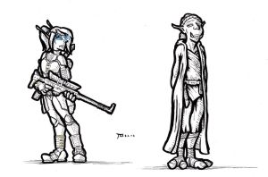 The Bounty Hunter and The Jedi by BloodelfSandman