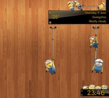 Minions At Work ANIMATED for xwidget by jimking