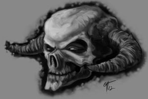 Skull With Horns by TheMacRat