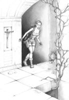 Lara searches for the lever by alineshenon