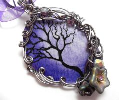 Twilit Forest Pendant no. 15 by sojourncuriosities