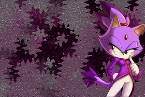 Blaze the cat +winter+PC ver. by kamiase