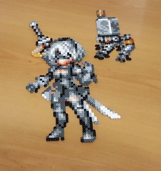 '2B' Perler - Final Fantasy Brave Exvius by Shada60