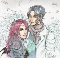 Angel and Demon. by maru-redmore