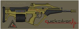 Quicksilver Industries: 'Sabretooth' Assault Rifle by Shockwave9001