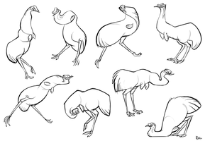 Spastic Emus by FancyPancakes
