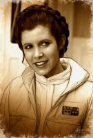 RIP Carrie Fisher by WolfeHanson