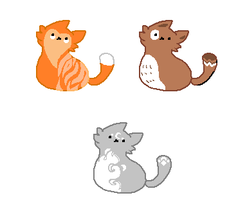 Simple Cat Adopts by archae0pteryx