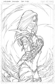 Witchblade $15 Sketch by Carl-Riley-Art