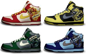 Harry Potter Nike Dunks by kaycunana
