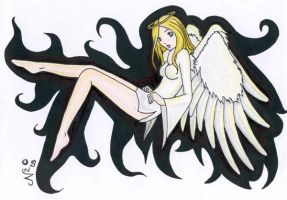 Coloured Schizo Angel by space-muffin