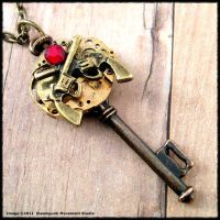 Steampunk Brass Gunslinger Key by SoulCatcher06