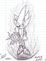 Super Sonic - Sketchy Style by ZBot9000
