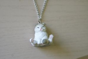 Tubby Kitty Necklace by MonsterBrandCrafts