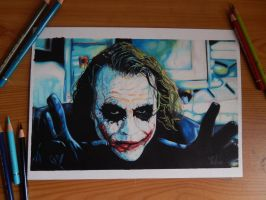 Colour pencil drawing of the Joker :) by sdw-art