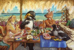 Meal with friends by Alessio-Scalerandi