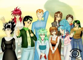 Yu yu Hakusho finished Fan art by shiromaki