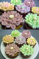 Flower Cupcakes by theRealPadster