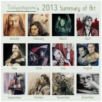 2013SummaryofArt by SallyGipsyPunk