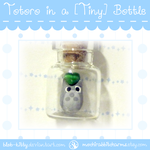 [New!] Tiny Totoro in a Bottle Necklace by ShinyCation