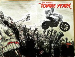 Zombie Years Motorcycle Jump Sketch Cover by FWACATA