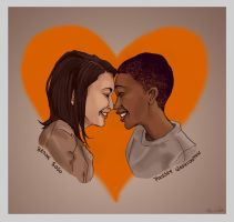 Brook and Poussey by Bumblie-Bee