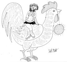Rasa and the Roller Disco Rooster by EmperorNortonII