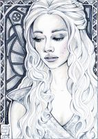 ACEO 111 Daenerys Targaryen / Game of Thrones by WojikHell