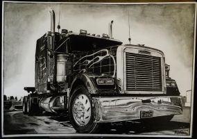 Freightliner drawing by alainmi