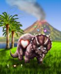 Little Hearts Triceratops by joereimer