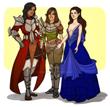 Commission: Heroes of Thedas by Enife