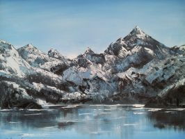 Alaskan Glaciers Oil Painting by paintingwithkay